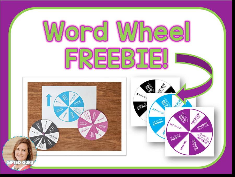 cover of word wheel freebie download