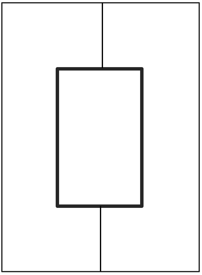 vertical depth and complexity frame with two sections