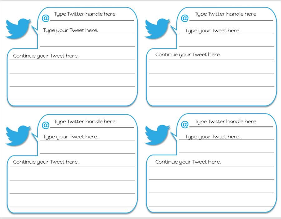 twitter google slides template slide 1